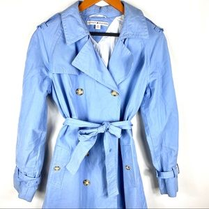 Tommy Hilfiger M Blue Trench Coat Jacket Long